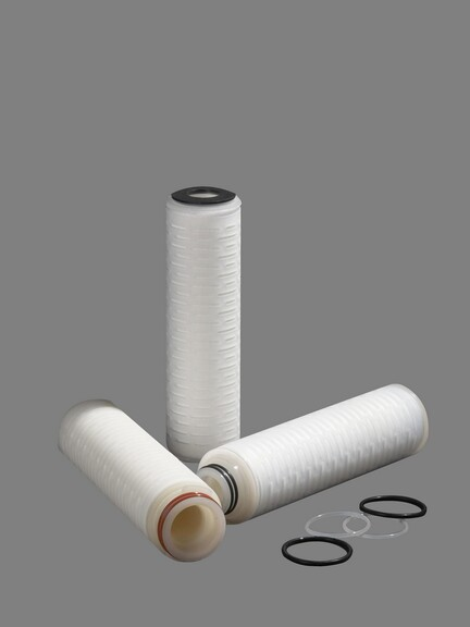 Installation, cleaning and disinfection of folding filter element